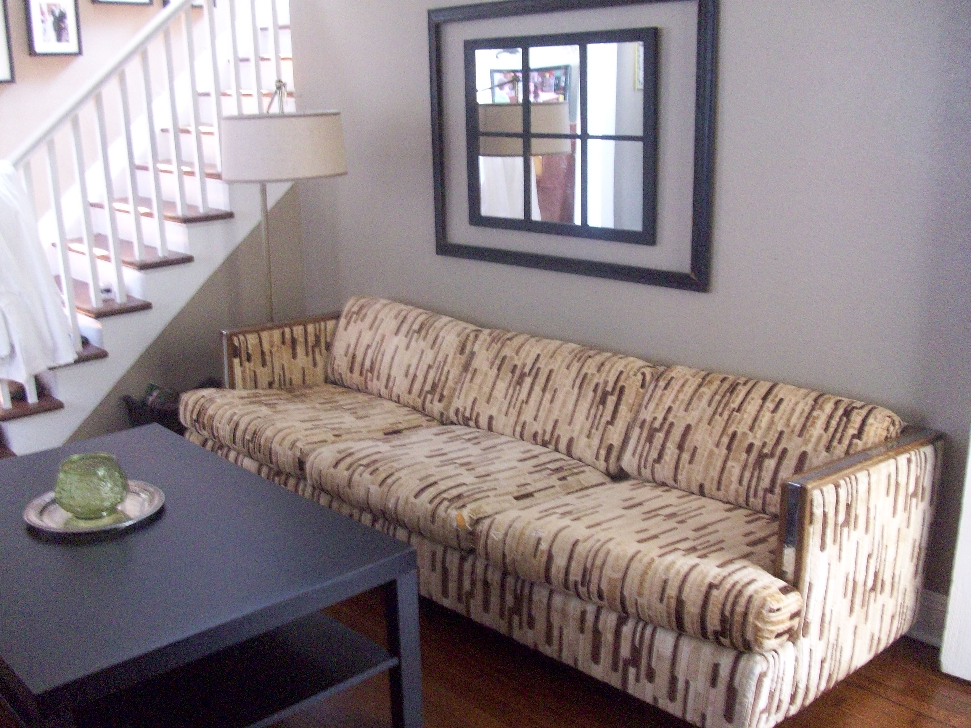 Transform An Ugly Sofa With A Dropcloth Slipcover Living