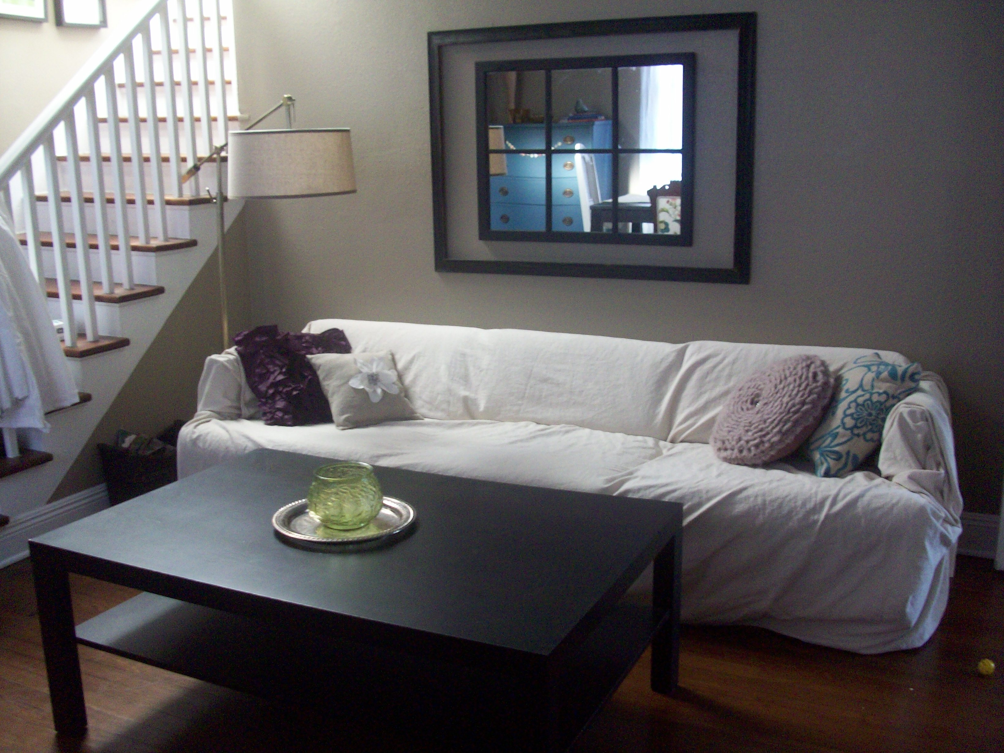Transform an Ugly Sofa with a Dropcloth Slipcover