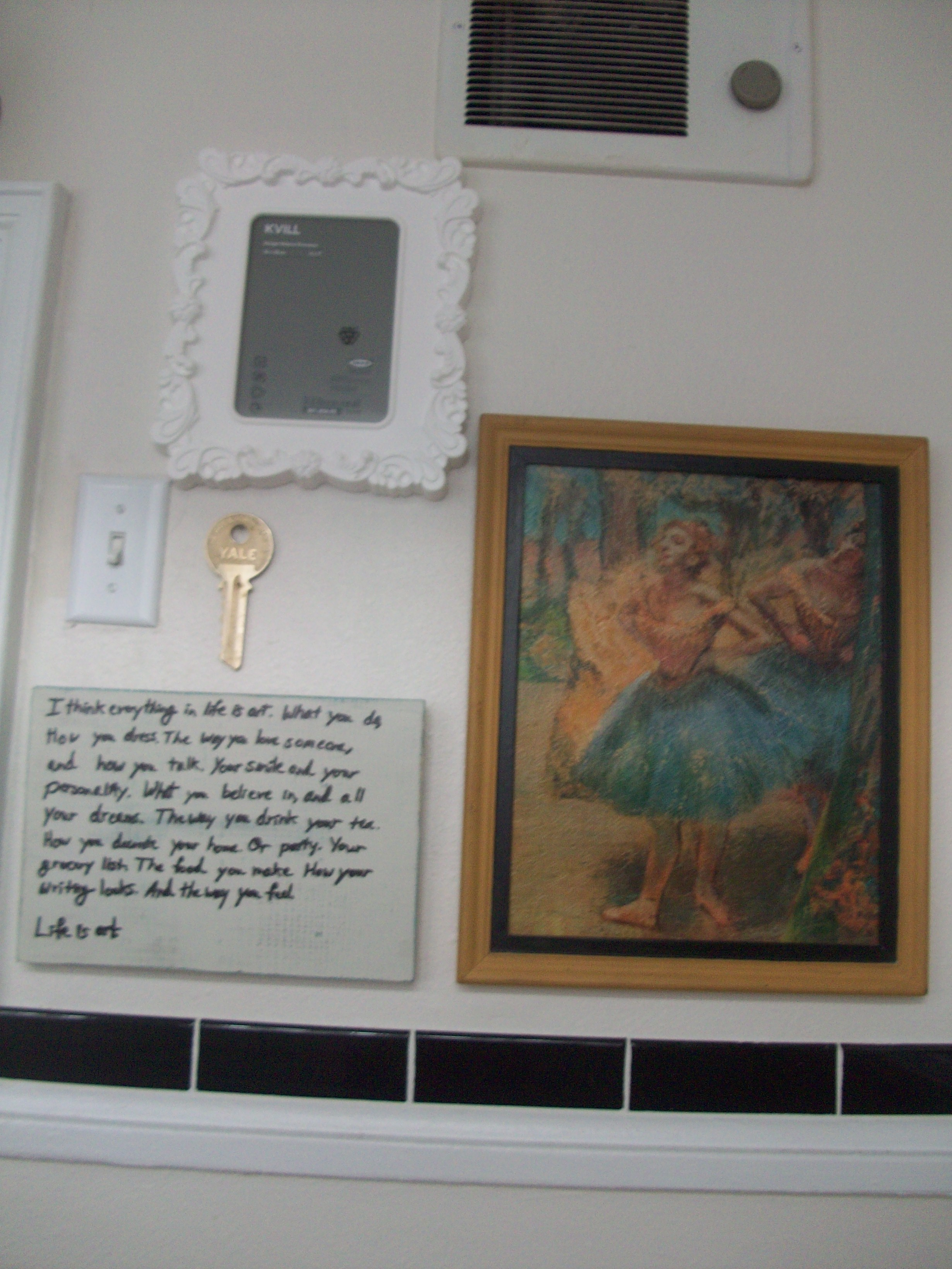 Inexpensive Bathroom Wall Decor : Bathroom art wall living well on the cheap