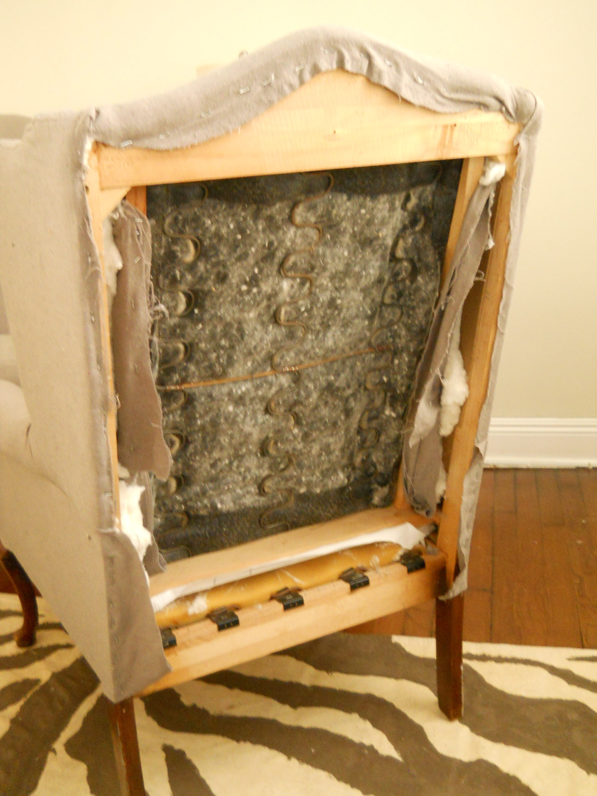 Wing Chair Reupholstery Update
