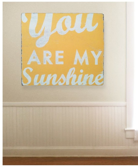 Pin It. U0027you Are My Print U0027. You Are My Sunshine Quote Wall Art ...